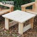 Table basse - Salon de Jardin en sapin du nord - Design Wood Structure - Mobilier de jardin en kit - Skatepark - Charpente - Richelieu - France