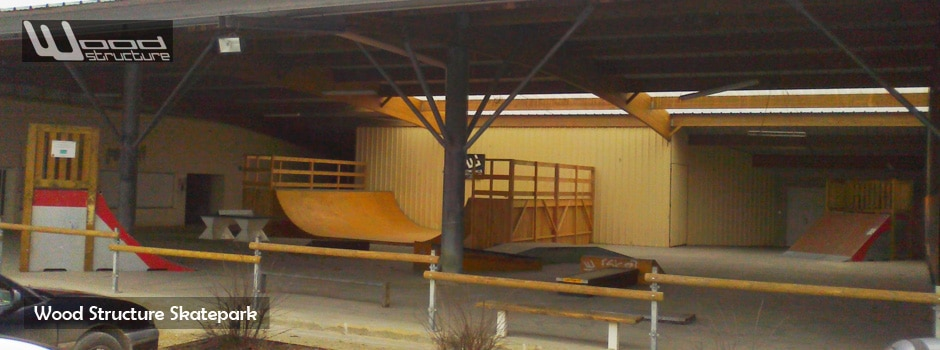 Skatepark Indoor de Vasles (79) - Module et rampe skate - Wood Structure