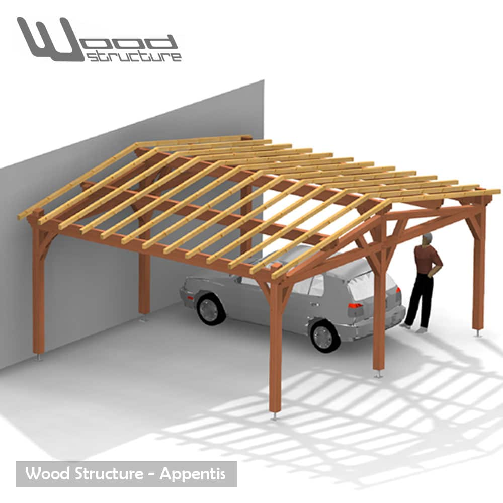 Célèbre Appentis 2 Pans L - Wood Structure WA23
