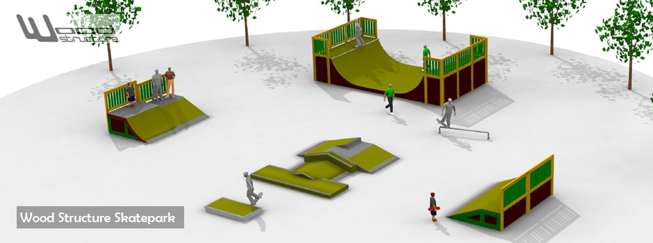 projet de skatepark wood structure. Black Bedroom Furniture Sets. Home Design Ideas