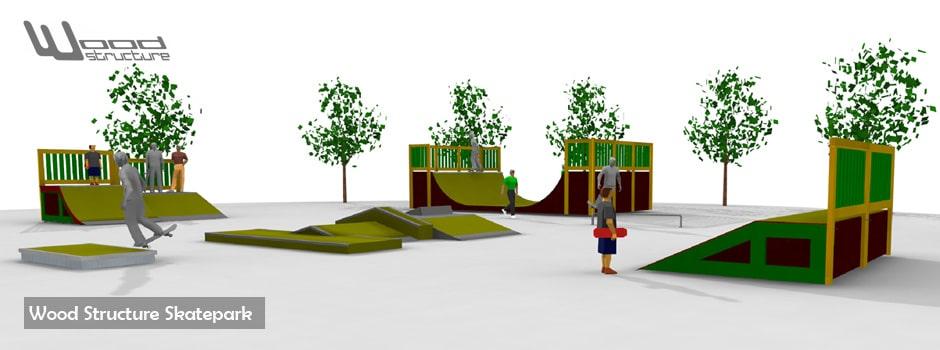 Module Skate Street Skatepark - Roller - Bmx - Trottinette - Wood Structure - Fabricant de Skatepark depuis 1990 - Module et Rampe Skate Privé et Public