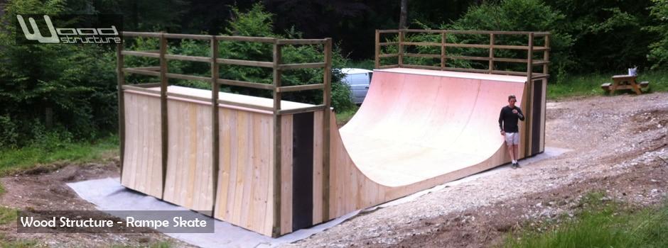 Medium Rampe Skate - Belgique - Wood Structure - Fabricant de Rampe et module Skate depuis 1990
