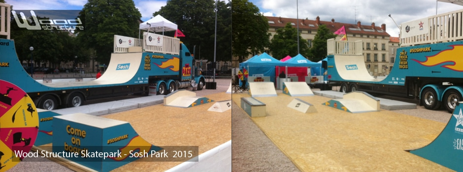 Sosh Park 2015 - Street & Ramp Design by Wood Structure Skatepark
