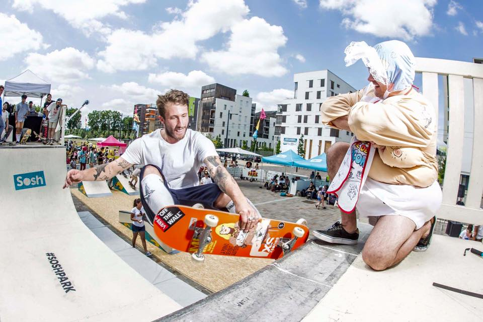 Sosh Park à Tours - Juin 2015 - Street & Ramp Design by Wood Structure Skatepark