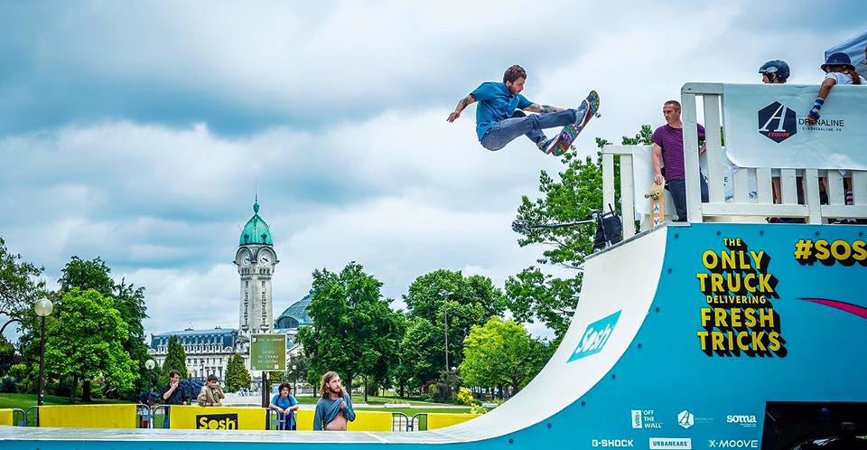 Sosh Park à Limoges - Mai 2015 - Street & Ramp Design by Wood Structure Skatepark