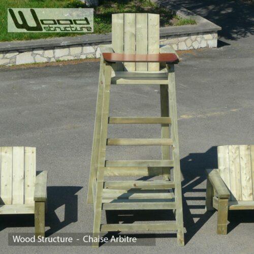 Mirador design wood structure for Chaise arbitre tennis
