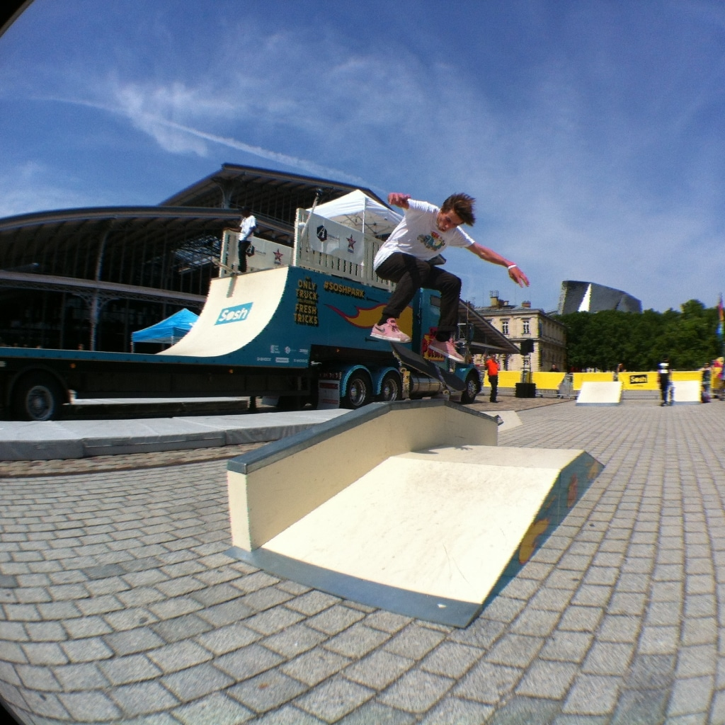 Sosh Park à Paris - Juin 2015 - Street & Ramp Design by Wood Structure Skatepark