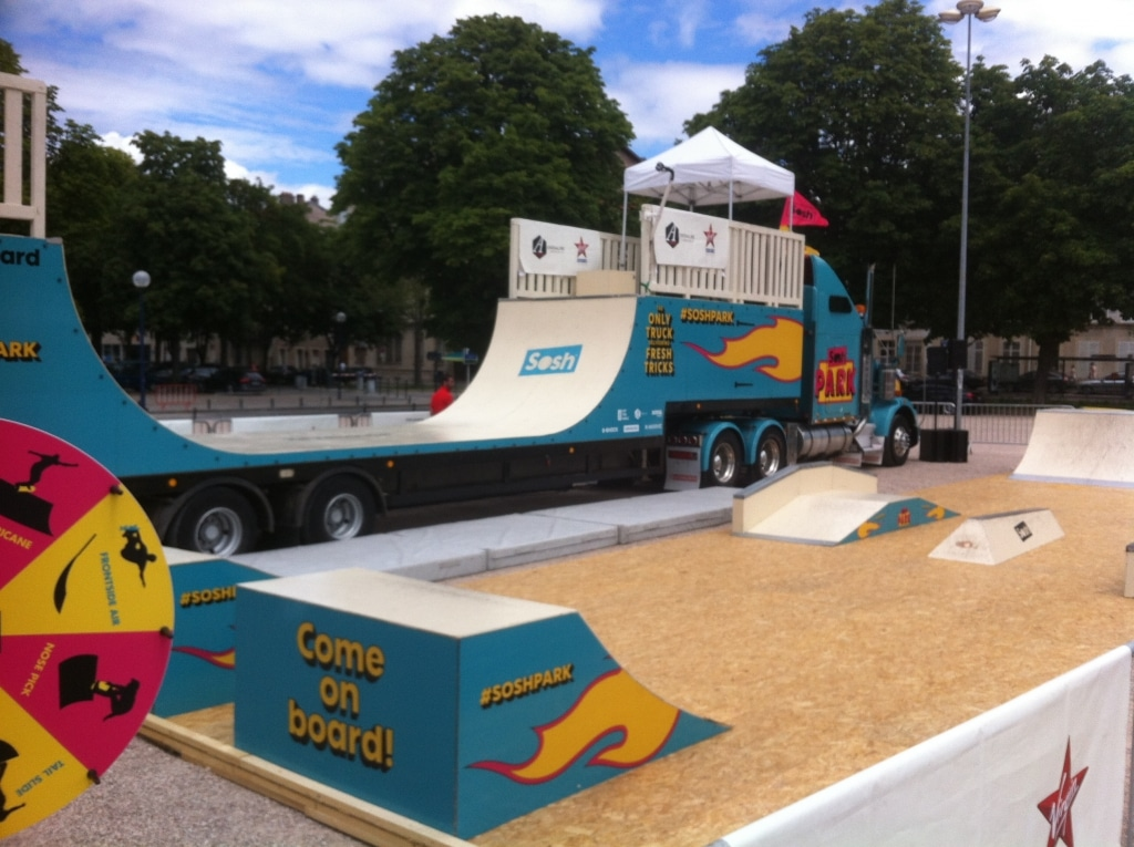 Sosh Park à Nancy - Juin 2015 - Street & Ramp Design by Wood Structure Skatepark