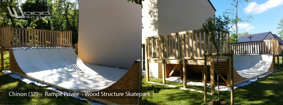 Mini Rampe Privée - Rampe Skate dans le Jardin - Chinon (37) - Wood Structure Skatepark