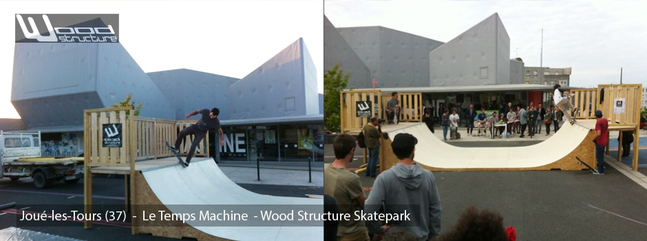 Location Rampe Skate au Temps Machine - Joué-les-tours (37) - Wood Structure Skatepark