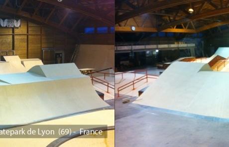 Skatepark de Lyon - Gerland (69) - Street & Bowl - Skatepark Indoor - Wood Structure Skatepark