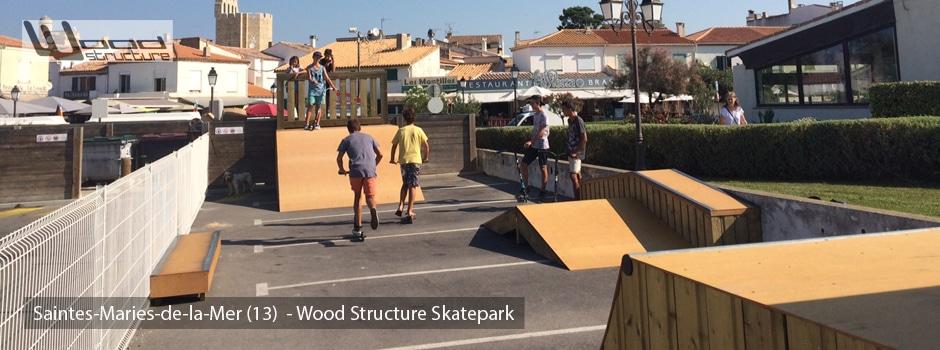 Aire de Street du Skatepark des Saintes-Maries-de-la-Mer - Wood Structure Skatepark