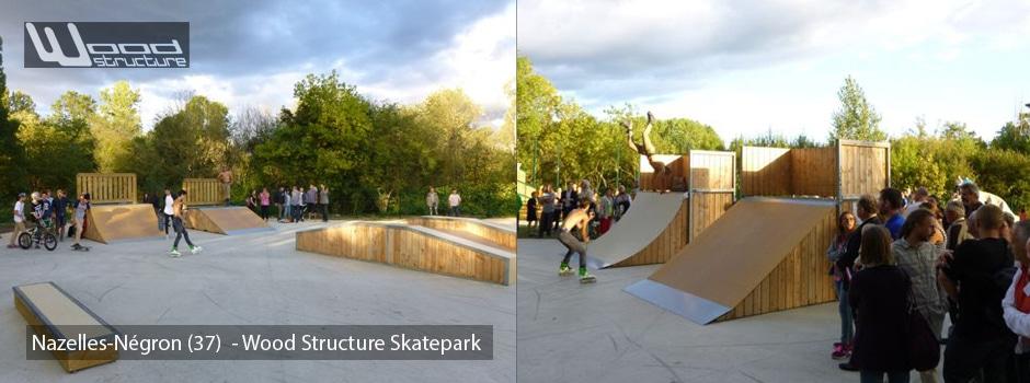 Aire de Street du Skatepark de Nazelles-Négron (37) - Wood Structure Skatepark