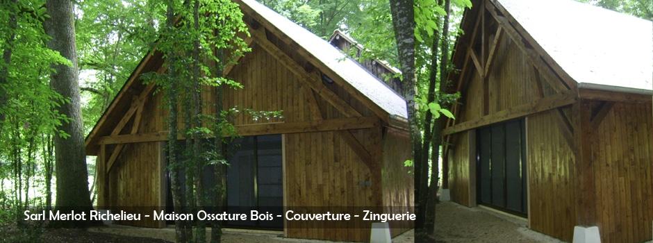Maison Bois - Bâtiment bois Industriel, Commercial et Public - Wood Structure - Bureau Etude Construction Bois -Charpente Ossature bois et Habitat - Richelieu - Indre et Loire - France