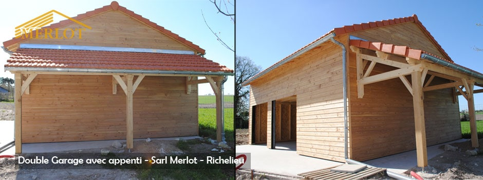 Charpente Abris Bois - Grange, Garage, Appentis, Carport, Extension Bois - Wood Structure - Bureau Etude Construction Bois -Charpente Ossature bois et Habitat - Richelieu - Indre et Loire - Région Centre Val de Loire - France