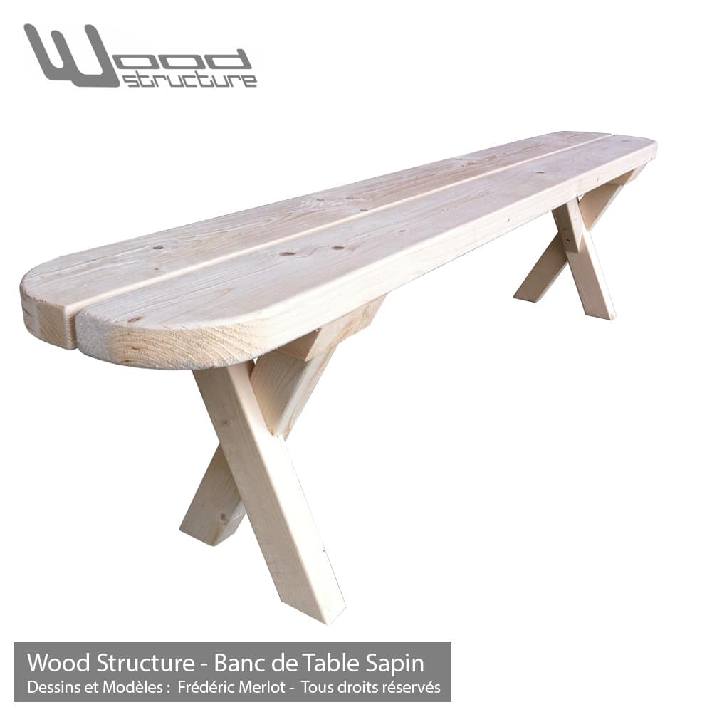 Banc de Table Sapin 200