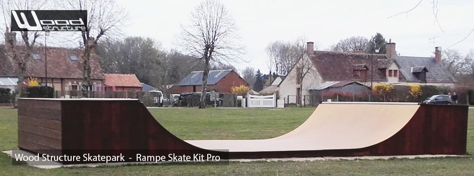 Rampe Skate Kit Pro - Rampe de Skate en kit pour privés et publics - Skatelite - Wood Structure Skatepark