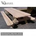 Table pique-nique sapin - Fabriquée en France par Wood Structure - Table XL 320 en Sapin du nord - Livrée en kit avec fourniture et plan de montage