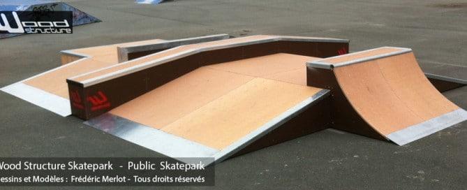 Skatepark de St George d' Oléron | Table Street - Funbox sur-mesure en Skatelite Pro | Installée par Wood Structure | Fabricant de Skatepark depuis 1998