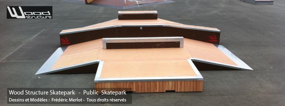 Skatepark de St George d' Oléron | Table Street - Funbox sur-mesure en Skatelite Pro | Installée par Wood Structure | Fabricant de Skatepark depuis 1990