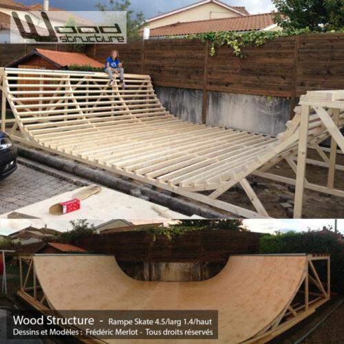 mini rampe skate 1 5 design wood structure. Black Bedroom Furniture Sets. Home Design Ideas