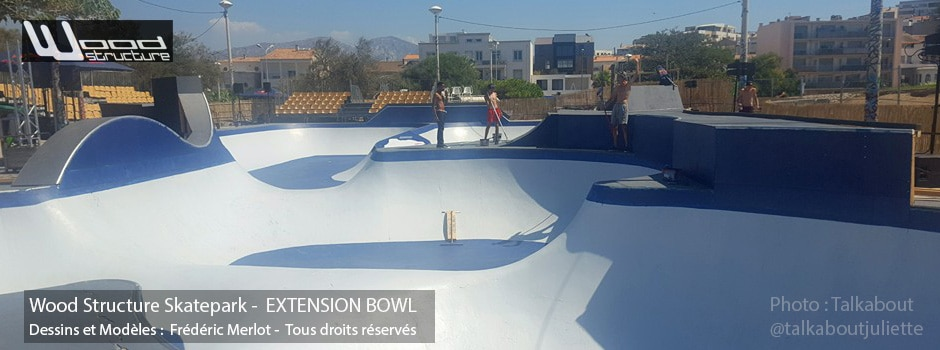 Fabrication dans nos ateliers de Richelieu (37) de plusieurs module extension bowl pour le Red Bull Bowl Rippers à Marseille du 02 au 04 Septembre 2016 | Skatepark installé par Wood Structure | Fabricant de Skatepark depuis 1990