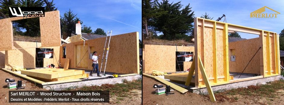maison ossature bois wood structure. Black Bedroom Furniture Sets. Home Design Ideas