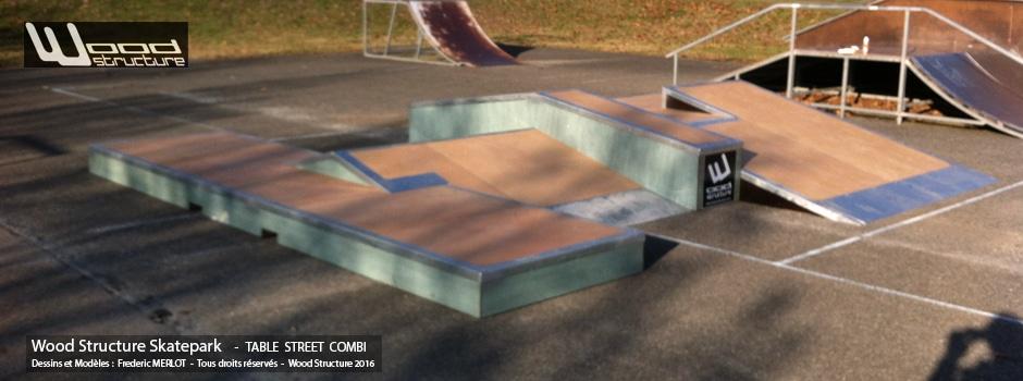 Rampe Skate à Villeneuve-la-Dondagre (89) - Yonne - Bourgogne-Franche-Comté - Par Wood Structure - Concepteur et fabricant de Skatepark depuis 1990