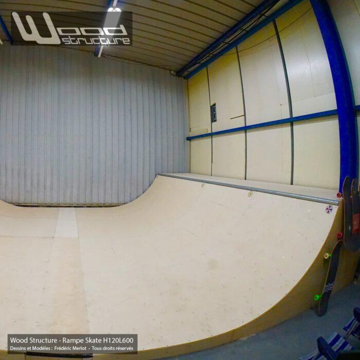 Kit Ramp Skate H120L600 - Module et Rampe Skate et Bowl livré en kit prêt à monter - Wood Structure Skatepark
