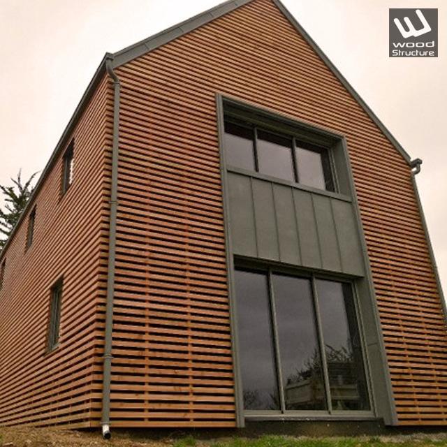 Maison Ossature Bois sur-mesure - Maison Bois - Wood Structure - Fabriqué en France à Richelieu par la Sarl MERLOT Charpente bois - Indre-et-Loire - Centre Val de Loire