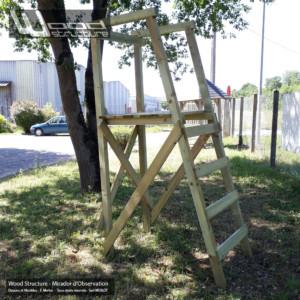 Mirador - Wood Structure - kit mirador avec fourniture et plan - Fabriqué en France par la Sarl MERLOT à RICHELIEU (37) Centre Val de Loire - Mirador de chasse ou autre observation de la nature