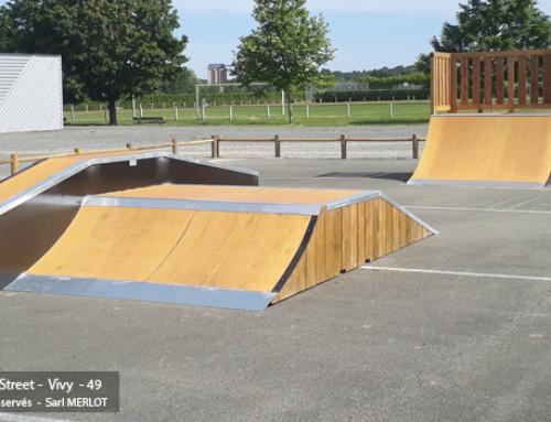 Funbox et Modules Street au Skatepark de Vivy (49)