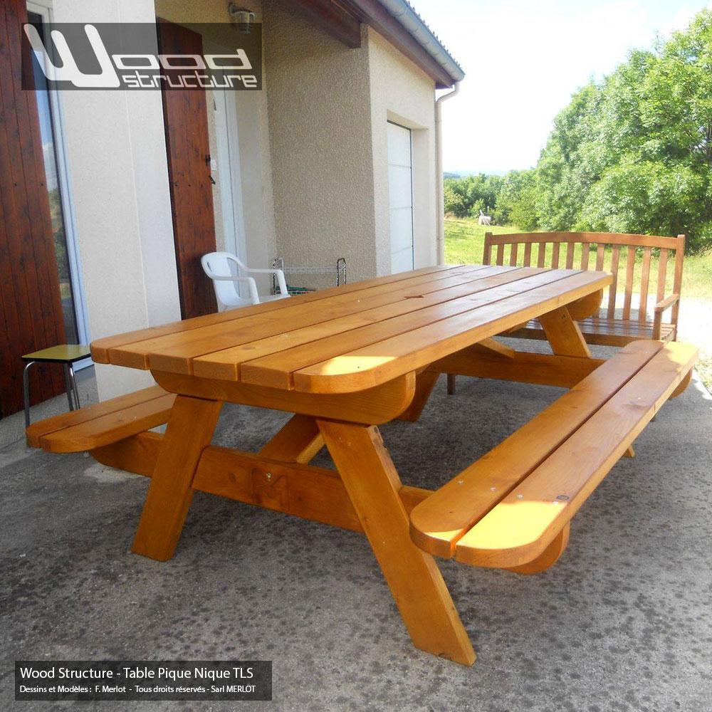 Table pique nique tls220 wood structure for Ou trouver du bois flotte en belgique