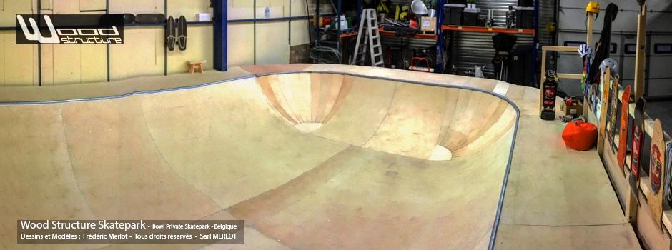 Bowl Corner Skate sur Kit Ramp Skate H120L600 - Module et Rampe Skate et Bowl livré en kit prêt à monter - Wood Structure Skatepark