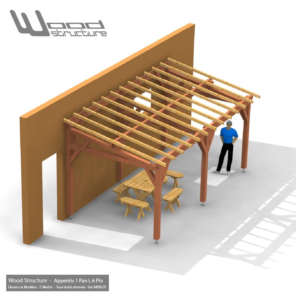 charpente 1 pan cv92 jornalagora. Black Bedroom Furniture Sets. Home Design Ideas