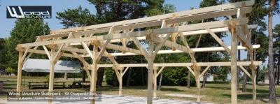Kit Charpente Bois en Yvelines (78) - Bâtiment - Garage - Abris Voiture - Atelier - Kit Charpente Bois Wood Structure - Fabriqué par la Sarl MERLOT à Richelieu (37) - Région Centre Val de Loire