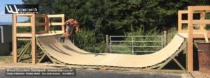 Kit Rampe Skate H120L300 - Module et Rampe Skate et Bowl livré en kit prêt à monter - Wood Structure Skatepark