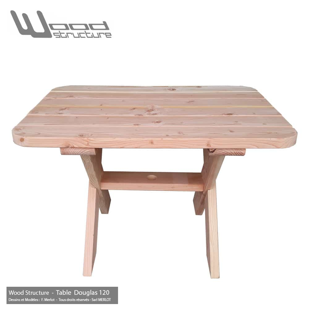 Best salon de jardin en bois douglas ideas awesome for Table structure