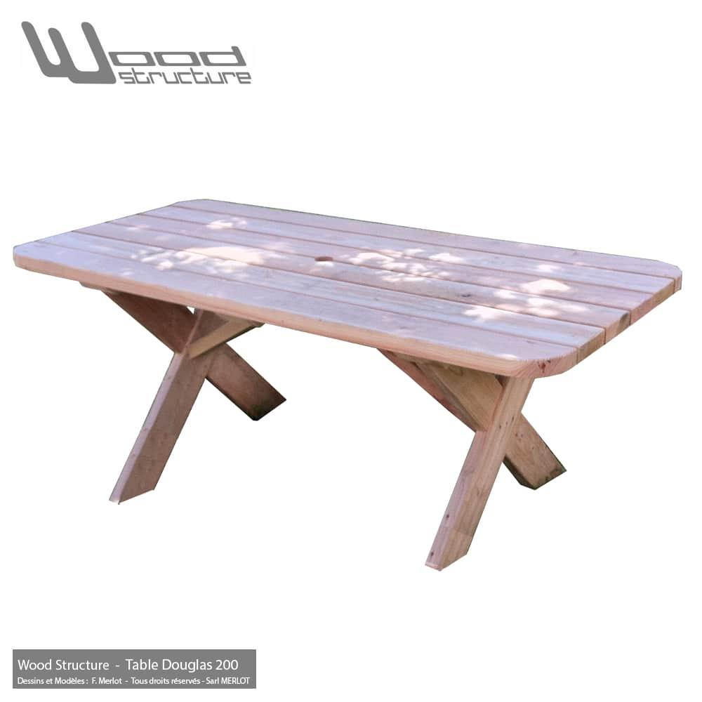 Beautiful table de jardin en bois douglas photos awesome for Html table structure
