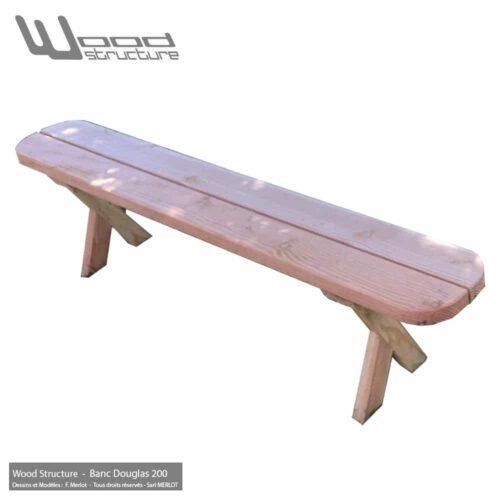 Banc Douglas 200 pour Table et Mobilier bois - Fabriqué en France par la Sarl Merlot & Wood Structure - Richelieu (37) Centre Val de Loire - France