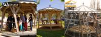 Kiosque à Musique - Wood Structure Charpente bois - Kiosque - Pergola - Tonnelle - Aménagement Bois Sur-Mesure - Fabriqué par Sarl Merlot à Richelieu (37) Région Centre Val de Loire - France