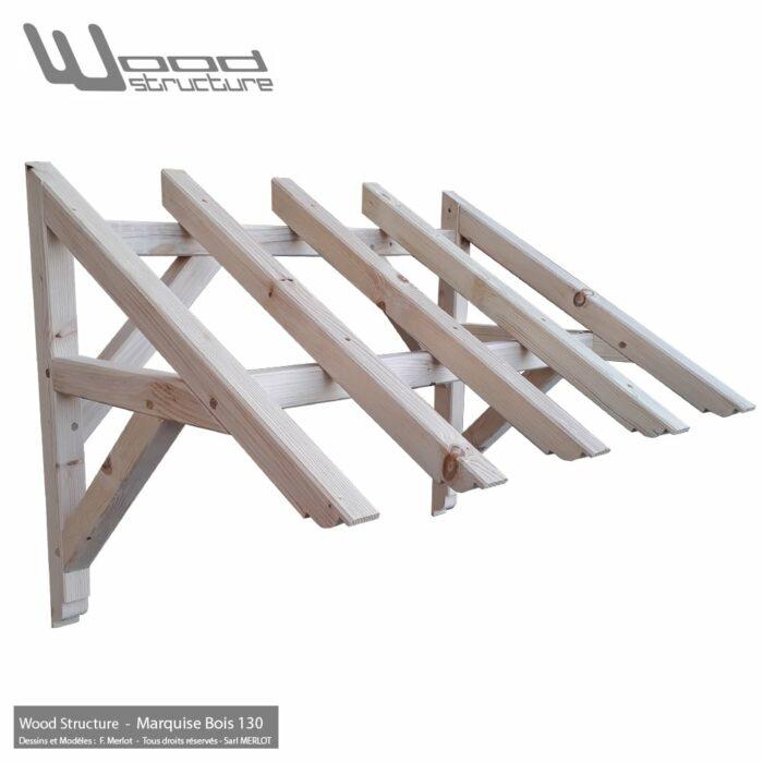 auvent de porte marquise bois 130 charpente bois wood structure. Black Bedroom Furniture Sets. Home Design Ideas