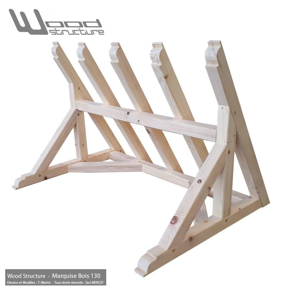 auvent de porte marquise bois 130 charpente bois. Black Bedroom Furniture Sets. Home Design Ideas