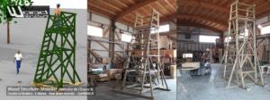Mirador XL - Wood Structure - kit mirador avec fourniture et plan - Fabriqué en France par la Sarl MERLOT à RICHELIEU (37) Centre Val de Loire - Mirador de chasse ou autre observation de la nature