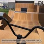 Design, fabrication et installation d'un skatepark privé sur-mesure - Bmxpark pour VodK & UnicornWAL - Rampe Skate fabriquée Par Wood Structure et la Sarl MERLOT Richelieu (37) - Concepteur et fabricant de Skatepark depuis 1990