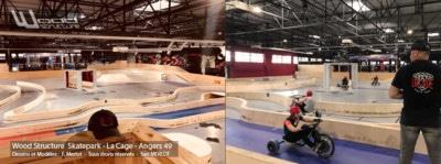 Skatepark Indoor Drift Trike Kart Tricycle - Aménagement Bois - LA CAGE - Angers - 49 -Wood Structure Skatepark