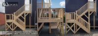 Charpente Ossature Bois Bardage Escalier installé à Angers (49) - Wood Structure - Fabriqué par la Sarl-Merlot à Richelieu (37)