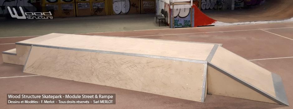 Module Curb Table Wheeling - Arras Skatepark - Street - Wood Structure - Fabricant de Skatepark depuis 1990
