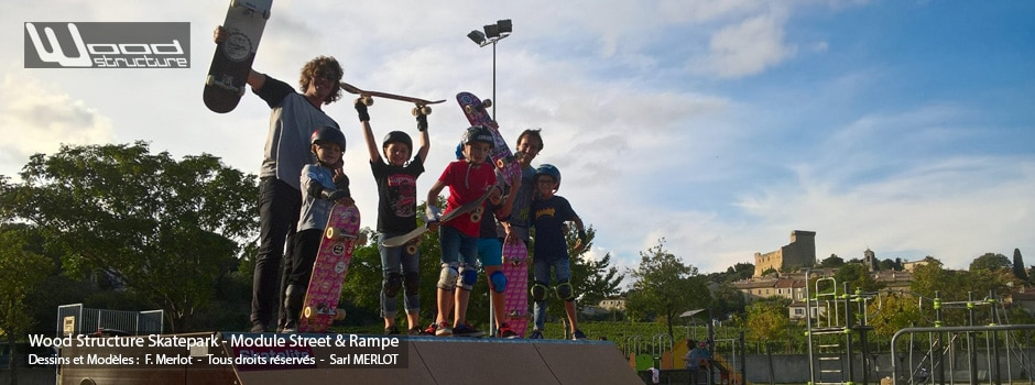 Mini Rampe Skatepark H100L366 Skatelite - Wood Structure - Fabricant de Skatepark depuis 1990