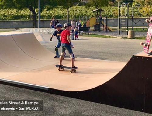 Mini Rampe Skatepark H100L366 Chateauneuf-du-Pape (83)
